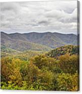 Autumn In Shenandoah National Park Canvas Print