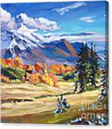Autumn In The Foothills Canvas Print