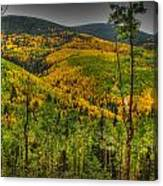 Autumn In The Rockies Hdr Canvas Print