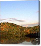 Autumn Lake Panoramic Canvas Print