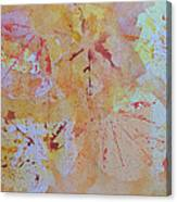 Autumn Leaf Splatter Canvas Print