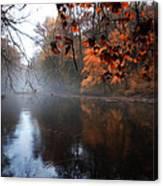 Autumn Morning By Wissahickon Creek Canvas Print