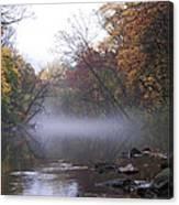 Autumn Morning On The Wissahickon Canvas Print