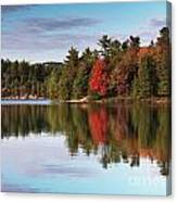 Autumn Nature Lake And Trees Canvas Print