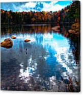 Autumn On Cary Lake Canvas Print