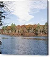 Autumn On Mill Pond Canvas Print