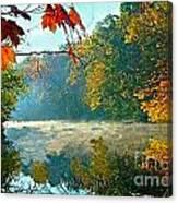 Autumn On The White River I Canvas Print