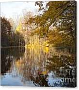 Autumn Pond In Harbor Country Canvas Print