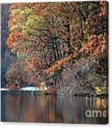Autumn Pond Reflections Canvas Print