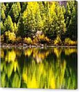 Autumn Reflection In Georgetown Lake Colorado Canvas Print