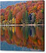 Autumn Reflections On Lake Bohinj In Slovenia Canvas Print