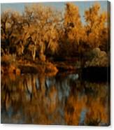 Autumn Reflections Painterly Canvas Print