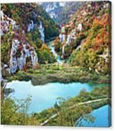 Autumn Valley Landscape Canvas Print