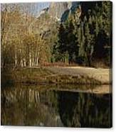 Autumn View Of The Park With Half Dome Canvas Print