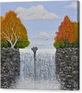 Autumn Waterfall Canvas Print