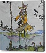 Autumn Witch Canvas Print