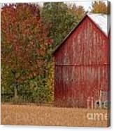 Autumnal Barn Canvas Print
