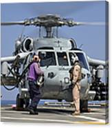 Aviation Boatswain's Mates Run Canvas Print