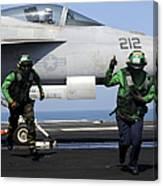 Aviation Boatswain Mates Signal A Clear Canvas Print