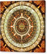 Aztec Calendar Canvas Print