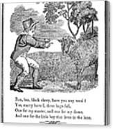 Baa, Baa, Black Sheep, 1833 Canvas Print