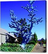 Baby Blue Tree Canvas Print