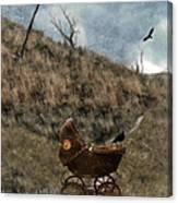 Baby Buggy In Wilderness Canvas Print