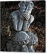 Baby Pan Statue Canvas Print