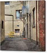 Back Alley Cityscape Canvas Print
