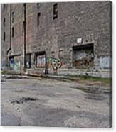 Back Of Warehouse Loading Dock Canvas Print