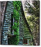 Back To Nature - Crumbling Barn Canvas Print