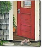 Backdoor Visitors Three  Canvas Print