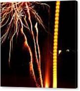 Backyard Fireworks 2012 1 Canvas Print