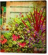 Backyard Flower Garden Canvas Print