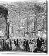 Baden-baden: Salon, 1858 Canvas Print