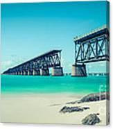 Bahia Hondas Railroad Bridge  Canvas Print
