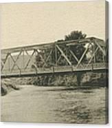 Bailey Bridge Over Willowemoc River Canvas Print