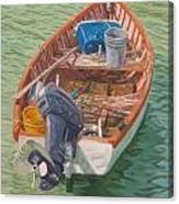 Bailey's Bay Fishing Dinghy Canvas Print