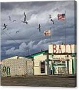 Bait Shop By Aransas Pass In Texas Canvas Print