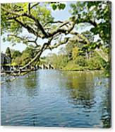 Bakewell Riverside - Through The Branches Canvas Print