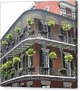 Balcony In New Orleans Canvas Print