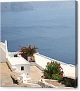 Balcony Oia Santorini Greek Islands Canvas Print