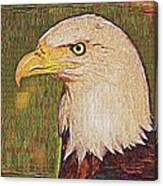Bald Eagle Embroidered Canvas Print