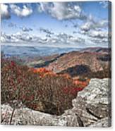 Bald Knob Overlook Near Mountain Lake Canvas Print