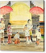 Balinese Children In Traditional Clothing Canvas Print