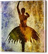Ballerina 1 With Border Canvas Print