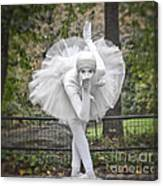 Ballerina In The Park Canvas Print