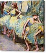 Ballet Dancers In The Wings Canvas Print