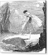 Ballet: Ondine, 1843 Canvas Print