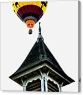 Balloon By The Steeple Canvas Print